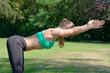 Women  make fitness workout