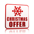 christmas offer white banner with snowflake symbol
