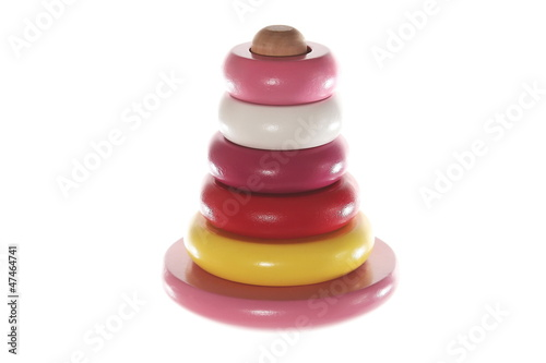 Toys pyramidion isolated on the white background
