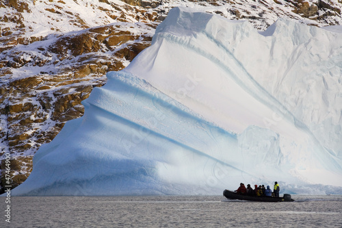 Adventure tourists and Iceberg - Greenland