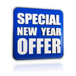 special New Year offer blue banner