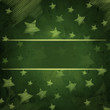 abstract green background with stars and text space