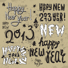 Happy New Year 2013 grunge text