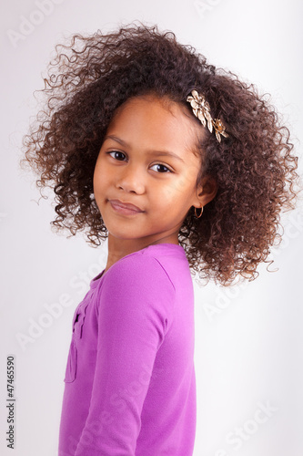 Cute young African Asian girl