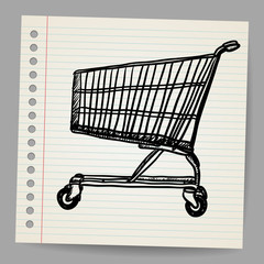 Scribble shopping cart