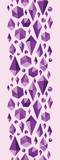 Vector purple geometric jewel shapes vertical seamless ornament