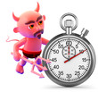 Devil times the event with a stopwatch