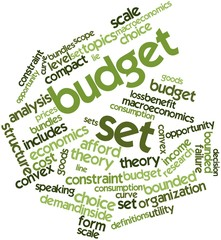 Word cloud for Budget set