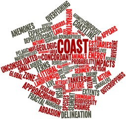 Word cloud for Coast