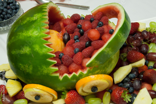 fruits basket from watermelon