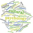 Постер, плакат: Word cloud for Cultural psychology