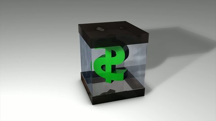 Donation box. With matte