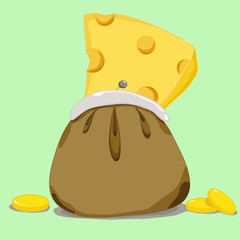 cheese in purse