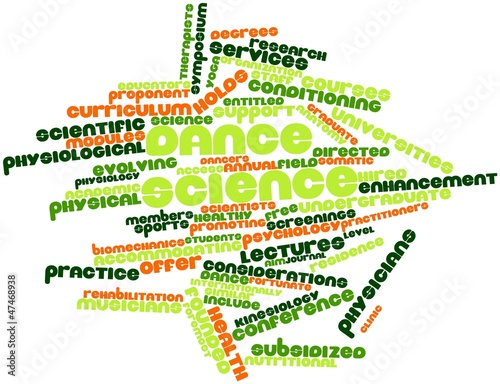 Word cloud for Dance science