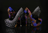 crystals encrusted shoes collection over black