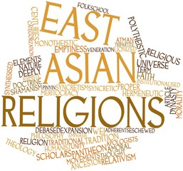 Word cloud for East Asian religions