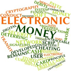 Word cloud for Electronic money