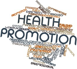Word cloud for Health promotion