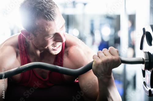 Fitness, Studio, Fitnessstudio, Hantel, Hanteln,Langhantel, Mann