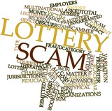 Word cloud for Lottery scam poster