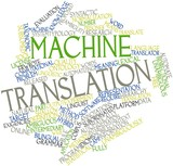 Word cloud for Machine translation