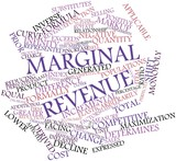 Word cloud for Marginal revenue poster