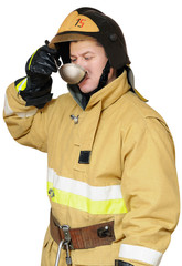 Hungry firefighter
