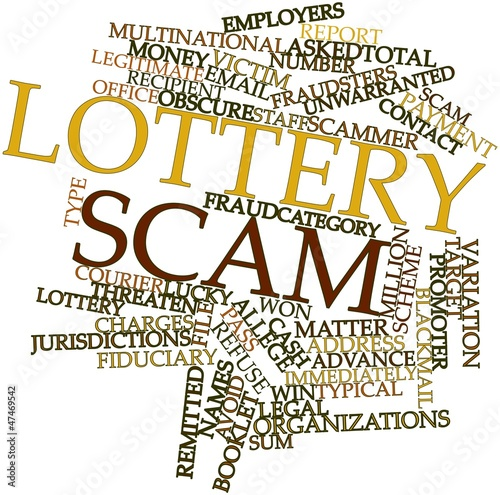 Word cloud for Lottery scam