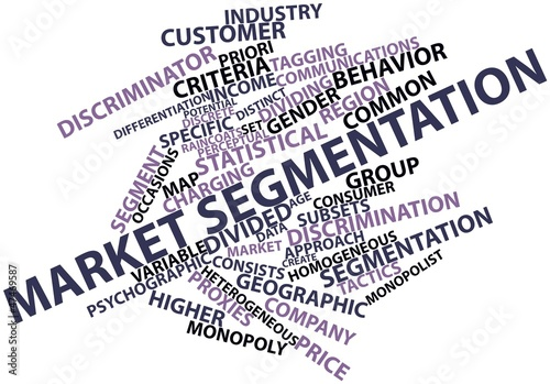 Word cloud for Market segmentation