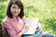 Pretty female student