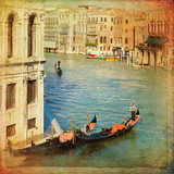 Venice - Gondolas in Grand Canal