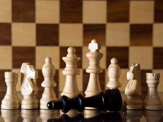 Defeated chess king
