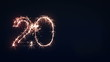 2013 Sign, New Year Sparkler