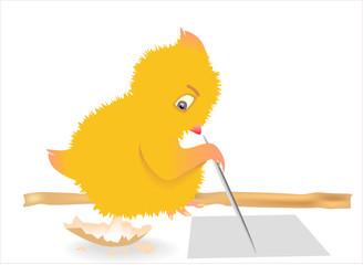 Рисующий цыплёнок
