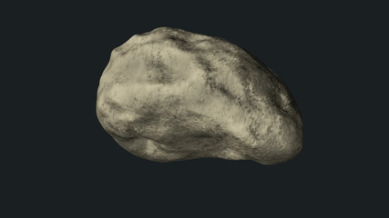 Asteroid with alpha mask