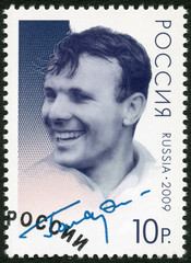 RUSSIA - 2009: shows Yuri Gagarin (1934-1968)