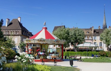 les rues de Beaune en Bourgogne
