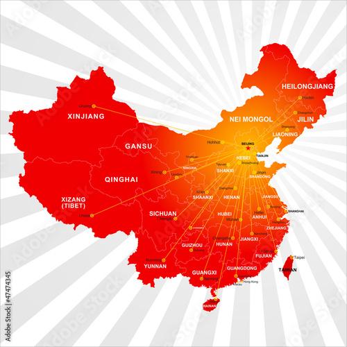 中国中文亚洲全球剪影北京国家图形图标地图地球外形