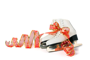 figure skates isolated on white background