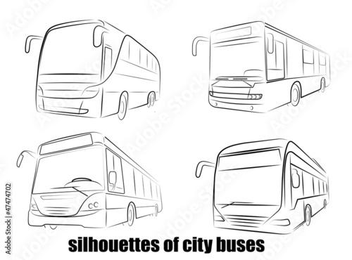 bus silhouette - 47474702