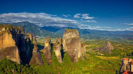 Rock formations at Meteora