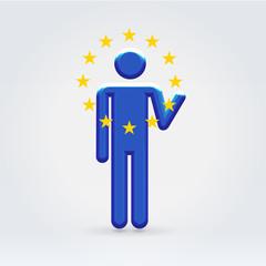 Europepan Union symbolic citizen icon