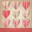 Scrap template of vintage design with hearts.