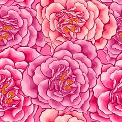 Roses heart seamless