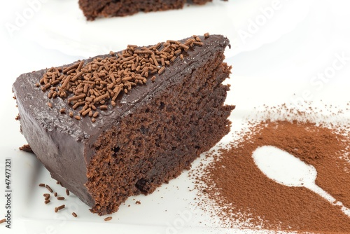 mud cake, chocolate cake