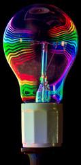 Psychedelic lightbulb