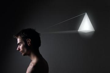 Concept photo of male model