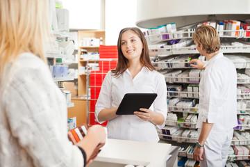 Pharmacist with Digital Tablet