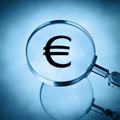 magnify euro symbol