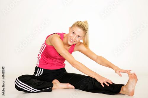 Frau beim Training